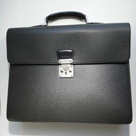 10%OFF Louis Vuitton ルイヴィトン ビジネス バッグ タイガ モスコバ M30032 黒 アルドワーズ ブラック 本物 ブランド プレゼント パソコン PCケース メンズ 通勤 ブリーフ 鍵付き【中古】 00 lv81-5216