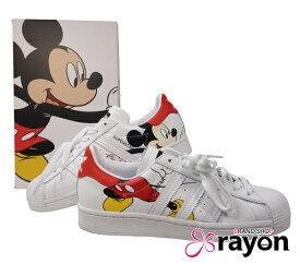 adidas アディダス Mickey×adidas Super star スーパースター ミッキー コラボ FW2901 シューズ スニーカー 靴 25.0cm ユニセックス 女性 男性 紳士 婦人 【中古】【USED N】【限定特価】【現品限り】【rayon】