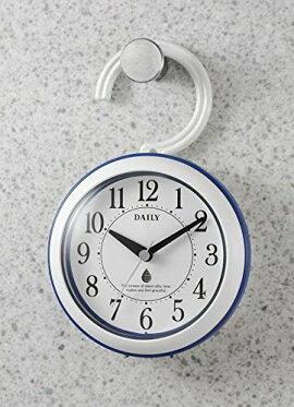 【CITIZEN/シチズン|リズム時計】DAILY(リズム時計)強化防滴・防塵(屋内用)小型クォーツ時計アクアパークDN青色4KG711DN04