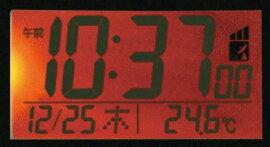 【CITIZEN/シチズン リズム時計】HelloKitty(ハローキティ)目覚し時計R095ピンク電波時計カレンダー表示付温度表示付8RZ095RH13