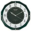【送料無料】RHYTHM(リズム時計) 【日本製】《高感度電波時計》 スリーウェイブ M846 緑メタリック 4MY846SR05 ■送…