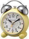 リズム時計 RHYTHM 目覚まし時計 アビスコR479SR イエロー 4RA479SR33