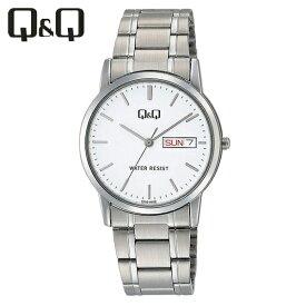【全国送料無料/代引き不可】[シチズン キューアンドキュー]CITIZEN Q&Q 腕時計 スタンダード アナログ ブレスレット 日付 曜日 表示 ホワイト A206-201 メンズ★チープシチズン チープカシオ 最安値