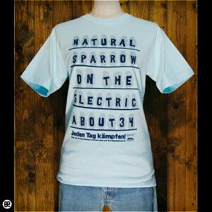 6.2oz半袖Tシャツ : とり電線 : アクアブルー