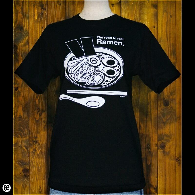 6.2oz半袖Tシャツ : Ramen : ディープブラック