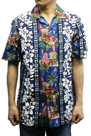 Robert J. Clancey 102C.361 Broadcloth Traditional Aloha Shirt ブロードクロス トラディショナル アロハ シャツ 半袖 MENS メンズ ハワイ製 BLUE ブルー S-L