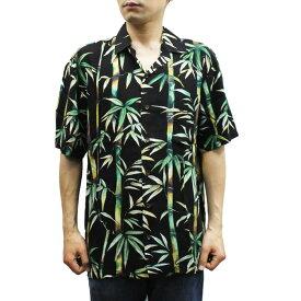 Robert J. Clancey 258.657 Washable Rayon Poplin Aloha Shirt アロハ シャツ ウォッシャブル レーヨン ポプリン 半袖 MENS メンズ ハワイ製 Black ブラック S-L