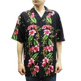 Robert J. Clancey 258.HL Washable Rayon Poplin Aloha Shirt アロハ シャツ ウォッシャブル レーヨン ポプリン 半袖 MENS メンズ ハワイ製 Black ブラック S-L