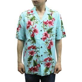 Robert J. Clancey 258.HL Washable Rayon Poplin Aloha Shirt アロハ シャツ ウォッシャブル レーヨン ポプリン 半袖 MENS メンズ ハワイ製 Aqua アクア S-L