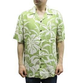 Robert J. Clancey 258.RB Washable Rayon Poplin Aloha Shirt アロハ シャツ ウォッシャブル レーヨン ポプリン 半袖 MENS メンズ ハワイ製 Green グリーン S-L