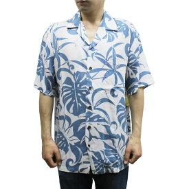 Robert J. Clancey 258.RB Washable Rayon Poplin Aloha Shirt アロハ シャツ ウォッシャブル レーヨン ポプリン 半袖 MENS メンズ ハワイ製 Blue ブルー S-L