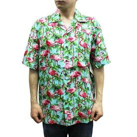 Robert J. Clancey 258.110 Washable Rayon Poplin Aloha Shirt アロハ シャツ ウォッシャブル レーヨン ポプリン 半袖 MENS メンズ ハワイ製 Turquoise ターコイズ S-L