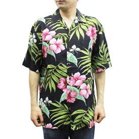 Robert J. Clancey 258.DS Washable Rayon Poplin Aloha Shirt アロハ シャツ ウォッシャブル レーヨン ポプリン 半袖 MENS メンズ ハワイ製 Black ブラック S-L