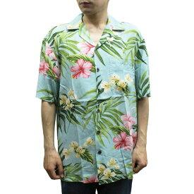 Robert J. Clancey 258.DS Washable Rayon Poplin Aloha Shirt アロハ シャツ ウォッシャブル レーヨン ポプリン 半袖 MENS メンズ ハワイ製 Aqua アクア S-L