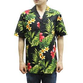 Robert J. Clancey 102C.TR Broadcloth Traditional Aloha Shirt ブロードクロス トラディショナル アロハ シャツ 半袖 MENS メンズ ハワイ製 Black ブラック S-L