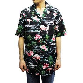 Robert J. Clancey 102C.275 Broadcloth Traditional Aloha Shirt ブロードクロス トラディショナル アロハ シャツ 半袖 MENS メンズ ハワイ製 Black ブラック S-L