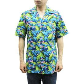 Robert J. Clancey 102C.076 Broadcloth Traditional Aloha Shirt ブロードクロス トラディショナル アロハ シャツ 半袖 MENS メンズ ハワイ製 Blue ブルー S-L