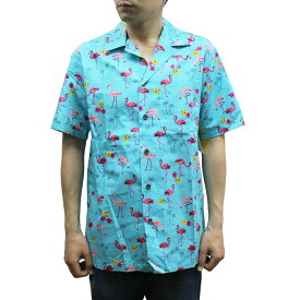 Robert J. Clancey 102C.1178 Broadcloth Traditional Aloha Shirt ブロードクロス トラディショナル アロハ シャツ 半袖 MENS メンズ ハワイ製 Aqua アクア S-L
