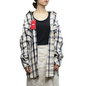 Miss EDWIN ミス エドウィン MT2022-16 CHECK SHIRT チェックシャツ FLANNEL フランネル TOPSスタンダード LADIES レディース BEIGE ベージュ M-L