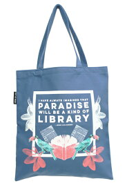 アウト オブ プリント OUT OF PRINT トートバッグ TOTE BAG LIBRARY PARADISE (天国はきっと図書館のようなところだろう)Jorge Luis Borges ホルヘ・ルイス ボルヘスメール便発送対応