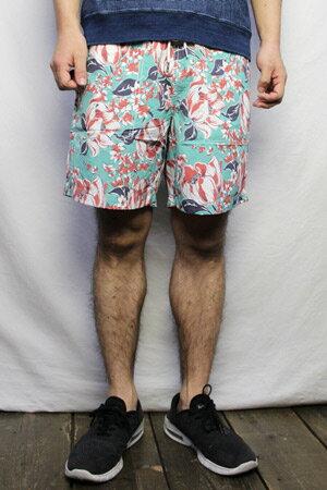 """グレイヤーズ """"Grayers"""" / サーフパンツ Floral Print Swim Trunk フローラルプリント(COLOR : TEAL) PS01S16FLO【05P06Aug16】"""