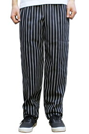 RED KAP #PS54 CHEF DESIGNS SPUN POLYESTER BAGGY CHEF PANTS バギー シェフ パンツ MENS メンズ BLACK CHALK STRIPE ブラック チョークストライプ XS-L