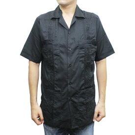 【送料無料】 MY CUBAN STORE SHORT SLEEVE GUAYABERA SHIRT グァジャベーラシャツ CUBA SHIRT キューバシャツ 半袖 メキシコ製 MENS メンズ LADIES レディース BLACK S-M