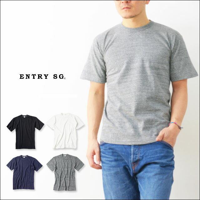 ENTRY SG [エントリーセスジー] EXCELLENT WEAVE [エクセレントウィーブ] 吊り編み機Tシャツ とても着心地の良いTシャツ  [MEN'S]ANTIQUE BLACK / OYSTER WHITE / CLASSIC NAVY / IRON GREY / GRAPHITE