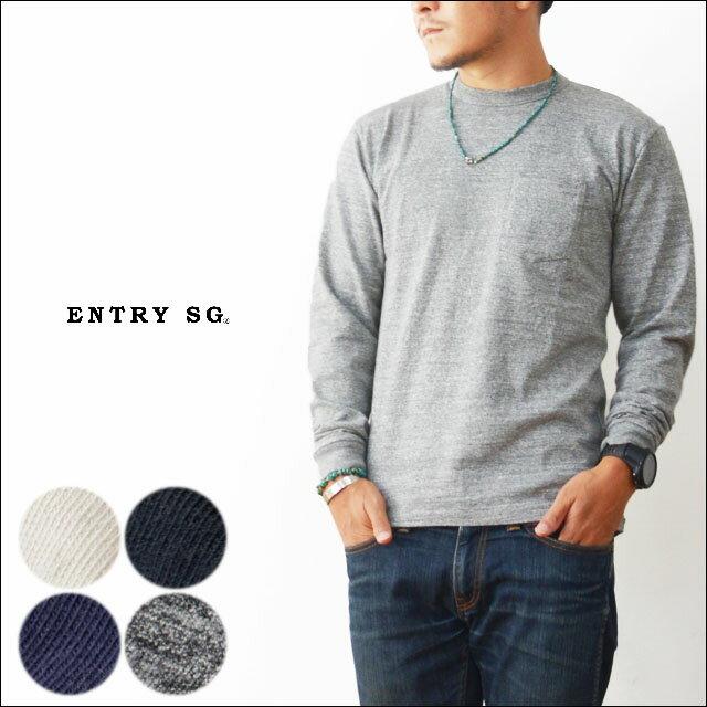 ENTRY SG [エントリーセスジー] PUEBLO 【T161CBPL】 [プエブロ] ポケットTシャツ・長袖Tシャツ・とても着心地の良いTシャツ・ロンT・ロンティー  [MEN'S]