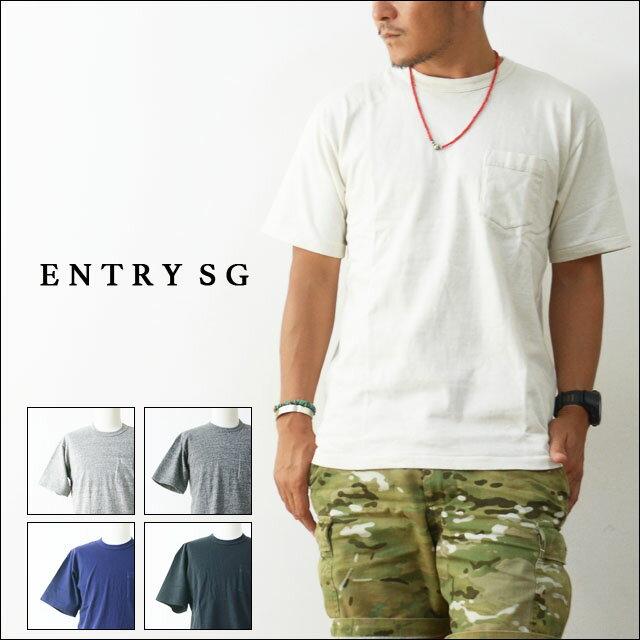 ENTRY SG [エントリーエスジー] TIJUANA T161CBP ポケットTシャツ・ティファナ・ティジュアナ 吊り編み機Tシャツ とても着心地の良いTシャツ ポケT POCKET TEE SHIRTS [MEN'S]