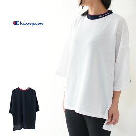 CHAMPION[チャンピオン] DOUBLE COLLAR BIG T-SHIRT [CW-RS003 ] ダブルカラービッグTシャツ・チャンピオンTシャツ 、ゆるtシャツ、ワイドTシャツ、BIGtシャツ、オーバーサイズ、ゆったりTシャツ LADY'S