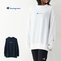 CHAMPION[チャンピオン]REVERSEWEAVET-SHIRT[CW-RS004]モックネックスリットシャツ・チャンピオンTシャツ、ゆるtシャツ、ワイドTシャツ、BIGtシャツ、オーバーサイズ、ゆったりTシャツ・長袖LADY'S