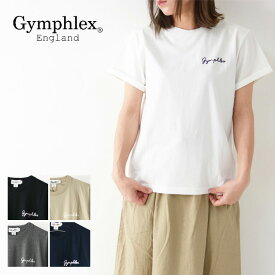 ◯PRE SALE 20%OFF◯Gymphlex [ジムフレックス] W COMBED COTTON JERSEY TEE SOLID [J-1155CH] クルーネック ロゴ刺繍 半袖Tシャツ・ボーダー・コットン・綿 LADY'S [2021SS]
