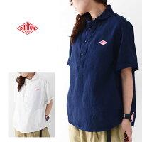 DANTON[ダントン]W'sS/SLINENCLOTHSHIRTS[JD-3565KLS]半袖クロスシャツ・リネンシャツ・半袖シャツ・無地・レディース・女性用・婦人服・LADY'S