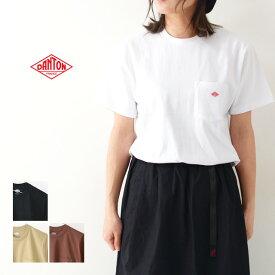 ◯PRE SALE 20%OFF◯DANTON [ダントン] W's 空紡天竺 POCKET T SOLID [JD-9041] ポケットTシャツ・コットンTシャツ・無地・LADY'S
