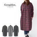 Gymphlex [ジムフレックス] 60/2ビエラ起毛チェック B.D. LONG SHIRTS [J-1176 VHC] ロングチェックシャツ・シャツワンピース・チェックワンピース ・ロングカーデ