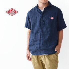 DANTON [ダントン] M's S/S LINEN CLOTH SHIRTS [JD-3569KLS] 半袖オックスフォードシャツ・半袖シャツ・無地・メンズ・男性用・紳士・MEN'S