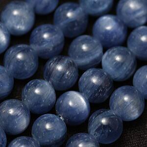 【粒売り】カイヤナイト(藍晶石)・丸8mm・1個【天然石ビーズ】【アクセサリー製作に】