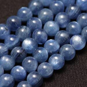 【粒売り】カイヤナイト(藍晶石)・丸6mm・1個【天然石ビーズ】【アクセサリー製作に】