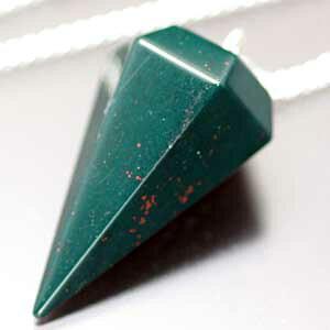 【一点物】【天然石】ブラッドストーン・ペンデュラム・ダウジング【パワーストーン】