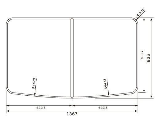 パナソニック Panasonic(松下電工 ナショナル) 風呂ふた(ふろふた フロフタ) 組みふた GRXGVR1374 836×1367mm