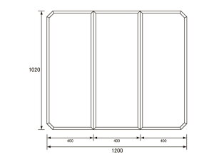 パナソニック Panasonic(松下電工 ナショナル) 風呂ふた(ふろふた フロフタ) 組みふた GZ965C (GZ965の代替品) 1020×1200mm