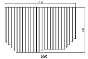 お風呂のふた トクラス (旧ヤマハ)新66R【新品番】FFMAHW1A1 巻きフタ ヤマハシステムバス用 風呂ふた 巻きふた 【寸法】W1532mm×D985mm(旧品番:GFFMAHW1AX)
