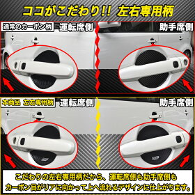 VELENOドアハンドルプロテクター3Dカーボン調左右柄傷防止耐水ひっかき傷防止ドアハンドルカバー送料無料
