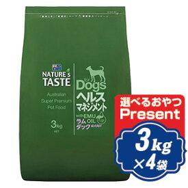 ネイチャーズテイスト ヘルスマネジメント ラム&ダック 12kg(3kg×4袋) NATURES TASTE ドッグフード【正規品】