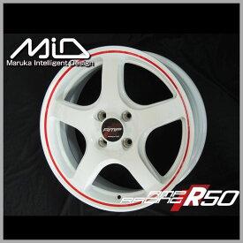 【送料無料】タンク ルーミーMID RMP レーシングR50ホワイトレッドライン195/45R16 国産タイヤ ホイールセット