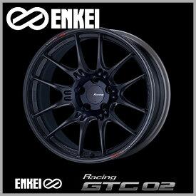 送料無料ENKEI エンケイ レーシング GTC02 マットブラック18インチ 7.5J +48 5穴 PCD114.3国産ホイール4本セットレヴォーグ オデッセイ ヴェゼルCX-3 アクセラ マツダ3