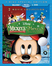 SALE OFF!新品北米版Blu-ray!<『ミッキーのクリスマスの贈りもの』『クリスマスでウエディング!』> Mickey's Once Upon a Christmas / Mickey's Twice [Blu-ray/DVD]!