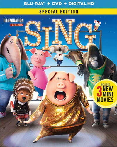 SALE OFF!新品北米版Blu-ray!【SING/シング】 Sing - Special Edition [Blu-ray/DVD]!