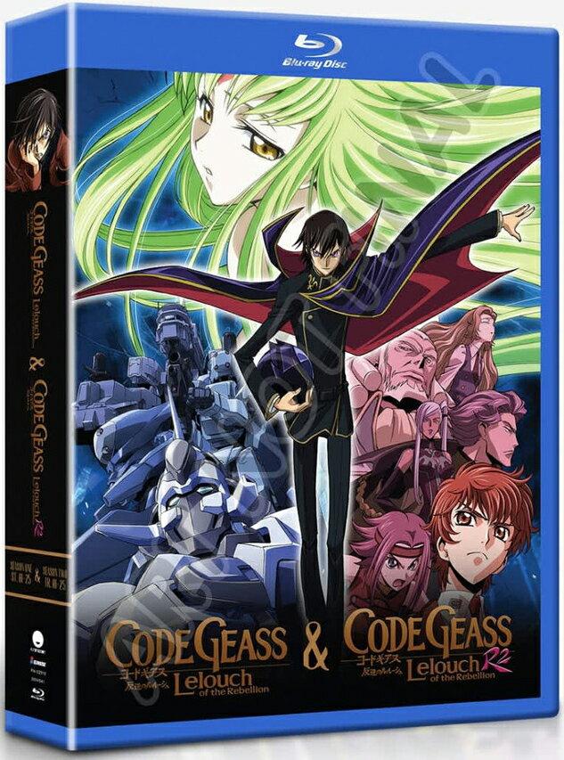 新品北米版Blu-ray!『コードギアス 反逆のルルーシュ(第1期)全25話』+『コードギアス 反逆のルルーシュR2(第2期)全25話』